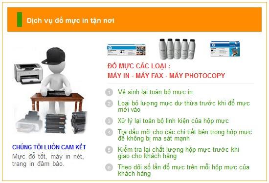 Đổ mực máy in canon tại nhà giá rẻ nhất trên Toàn Quốc