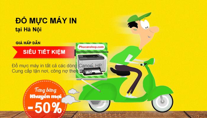 Đổ mực máy in tại nhà ở Hà Nội và các TP trên cả nước giá 55k