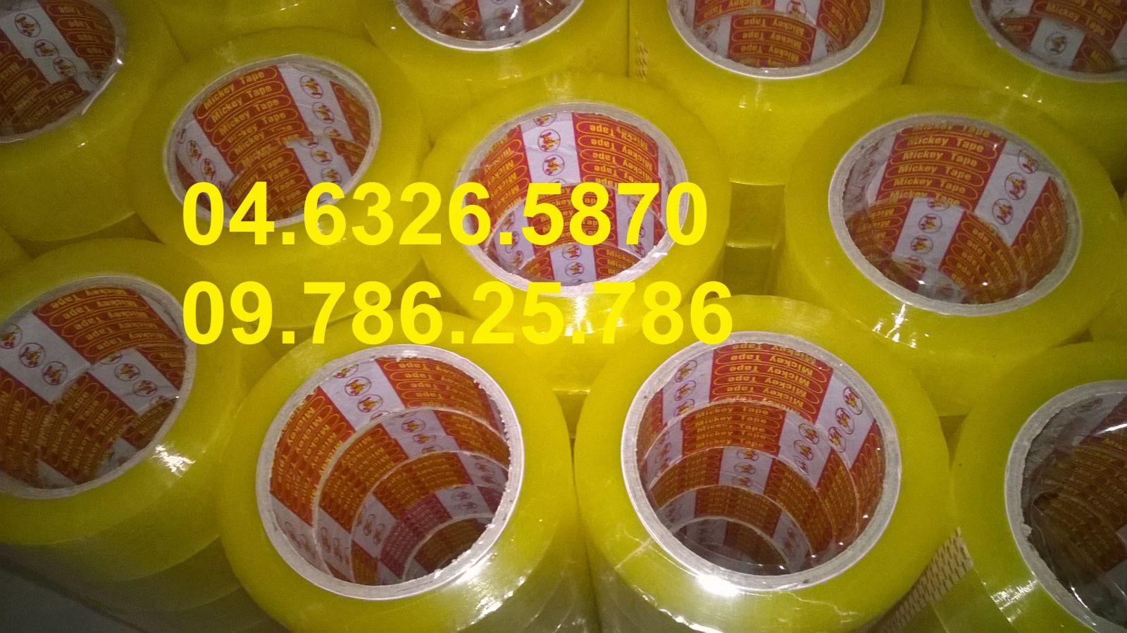 Băng dính opp màu vàng chanh siêu dính