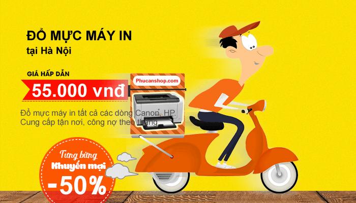 Đổ mực máy in tại nhà ở Hà Nội giá ưu đãi chỉ còn 55k